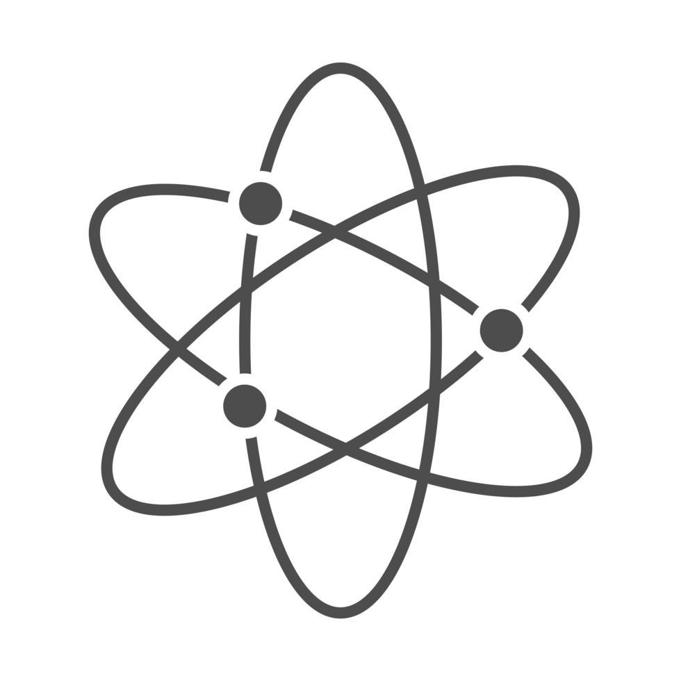 science molecule atom chemistry line style icon vector