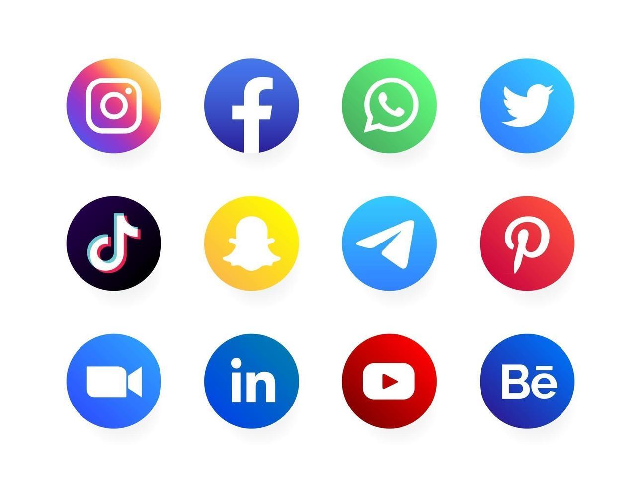 social media logos vector
