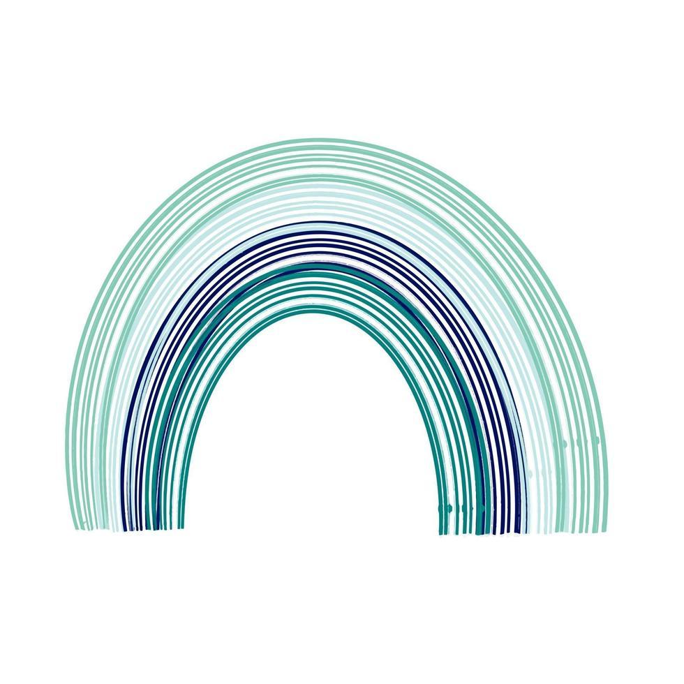 Blue boho rainbow. Vector illustration