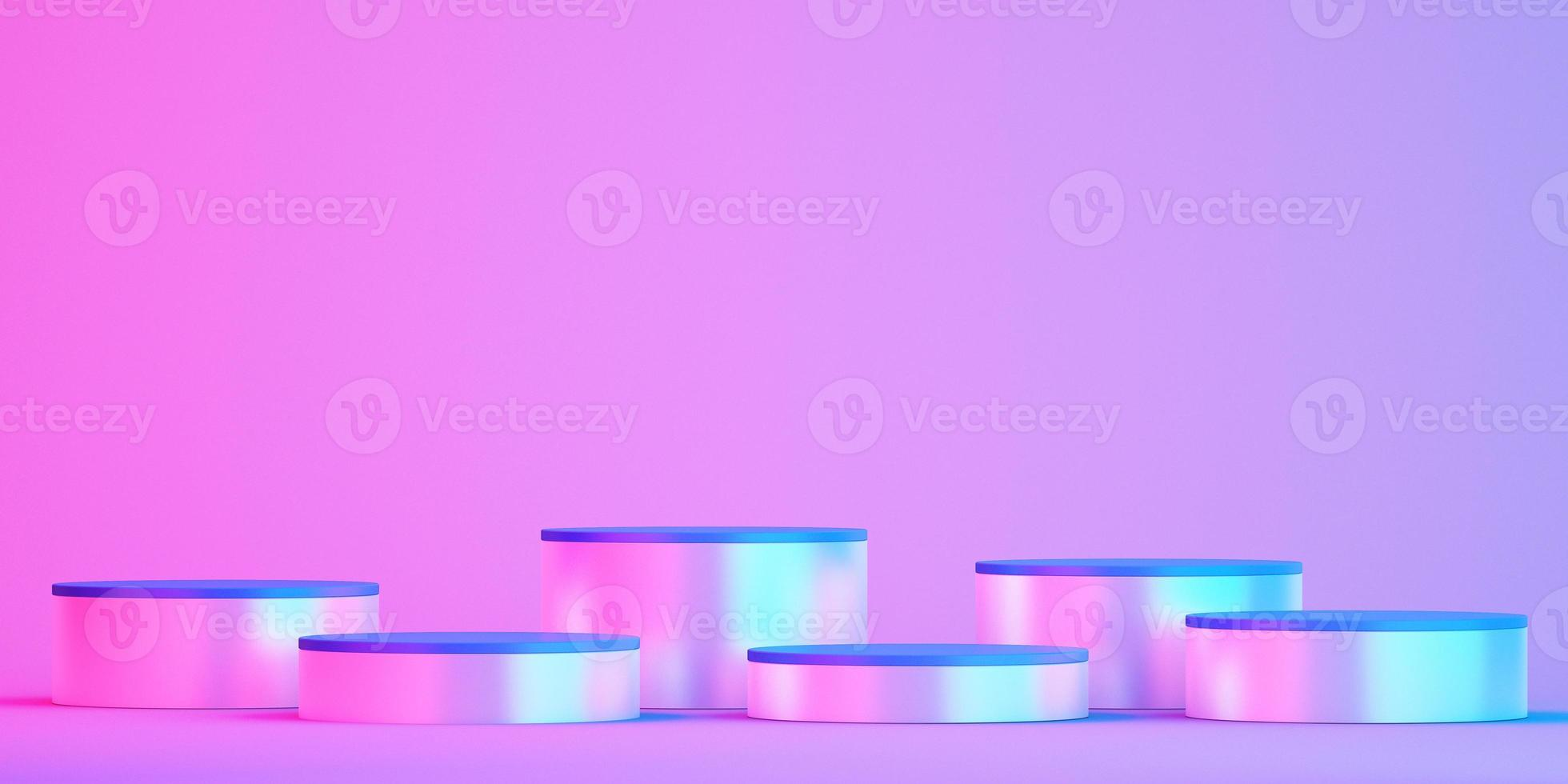 3d podium mockup for product presentation on colorful background photo