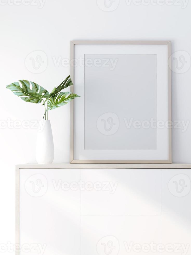 Representación 3D de maqueta de diseño de interiores foto