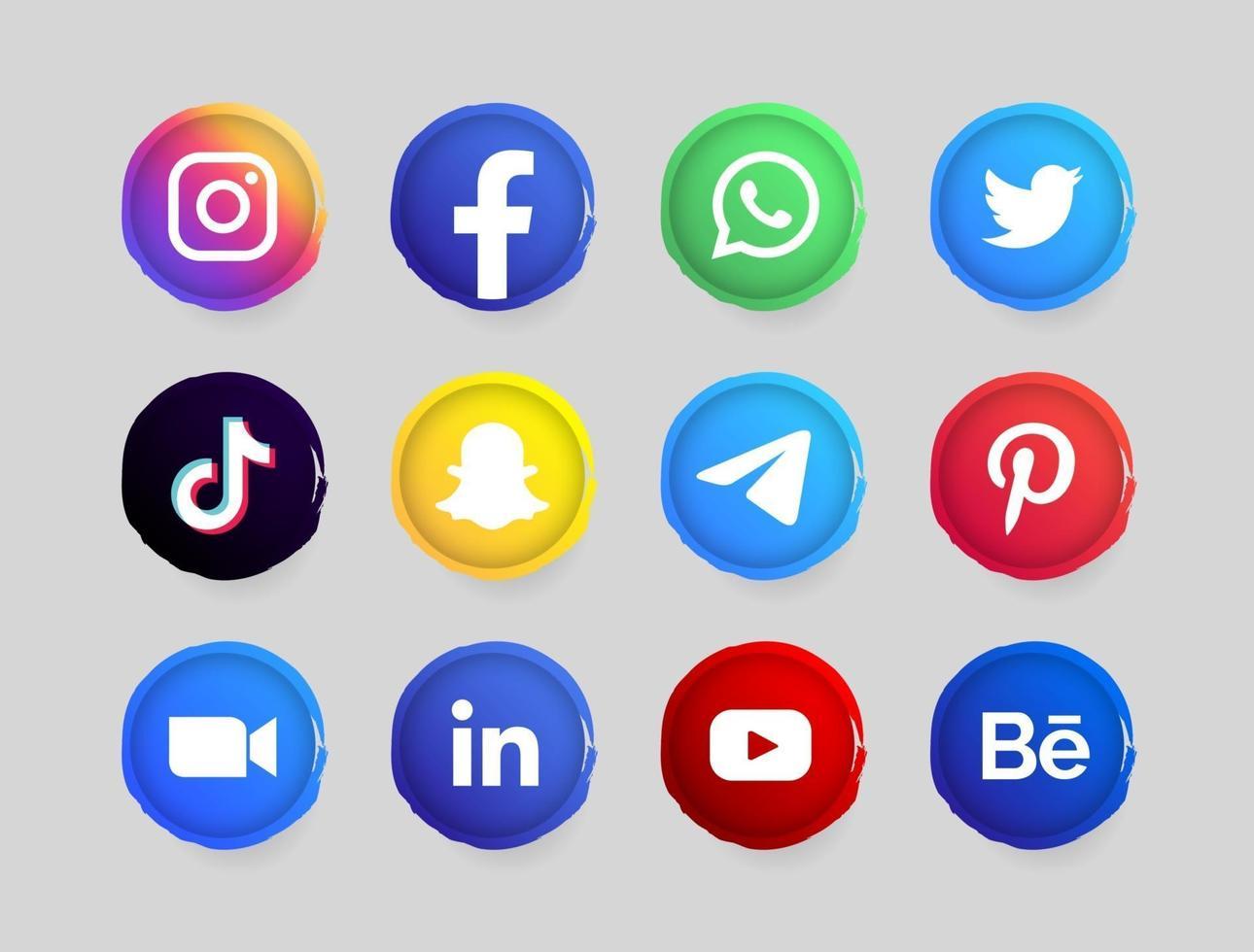 social media button vector