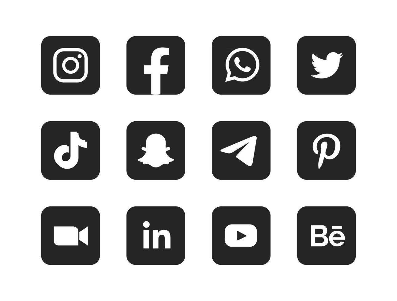 Basic round social media logo vector