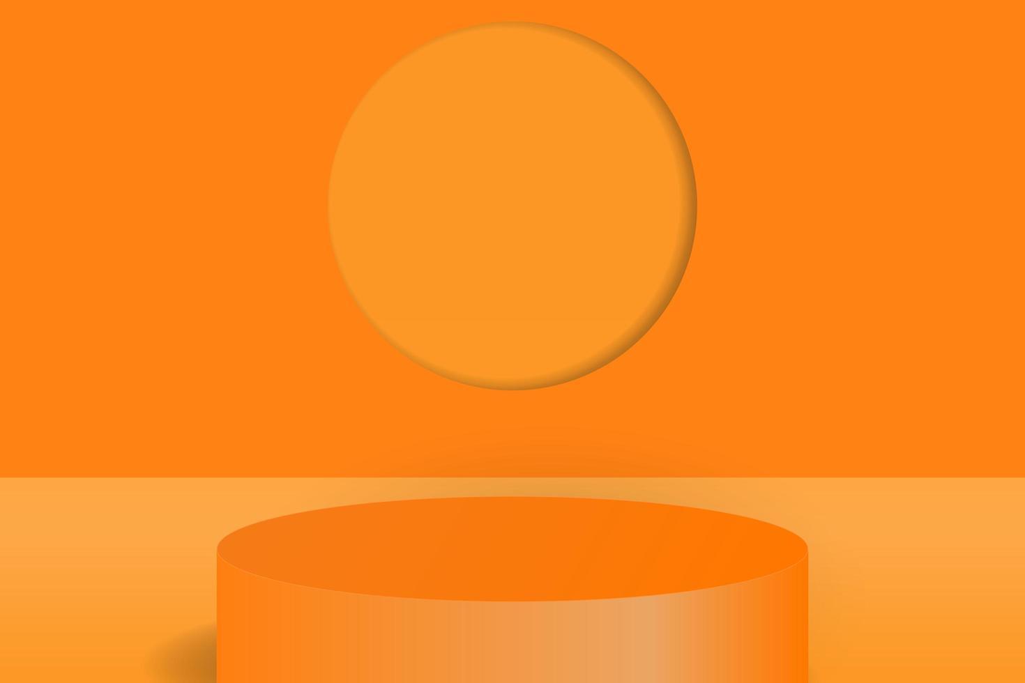 Minimal scene with cylinder podium background vector