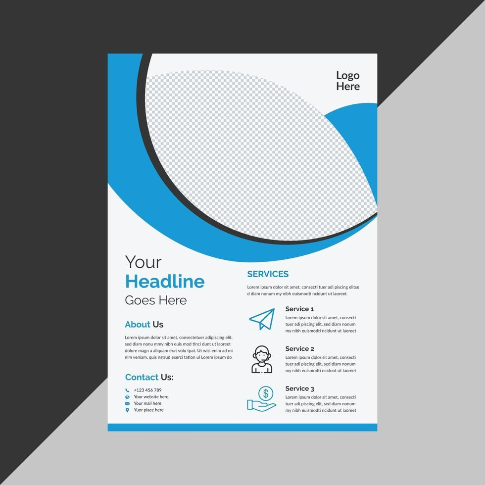 Professional creative business flyer template free vector