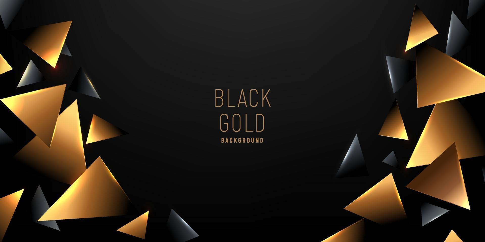 Elemento de triángulo de lujo abstracto de patrón geométrico de estilo dorado geométrico sobre fondo oscuro con espacio de copia. premium y elegante. que puede utilizar para plantillas, carteles, banners web, anuncios impresos. vector eps10