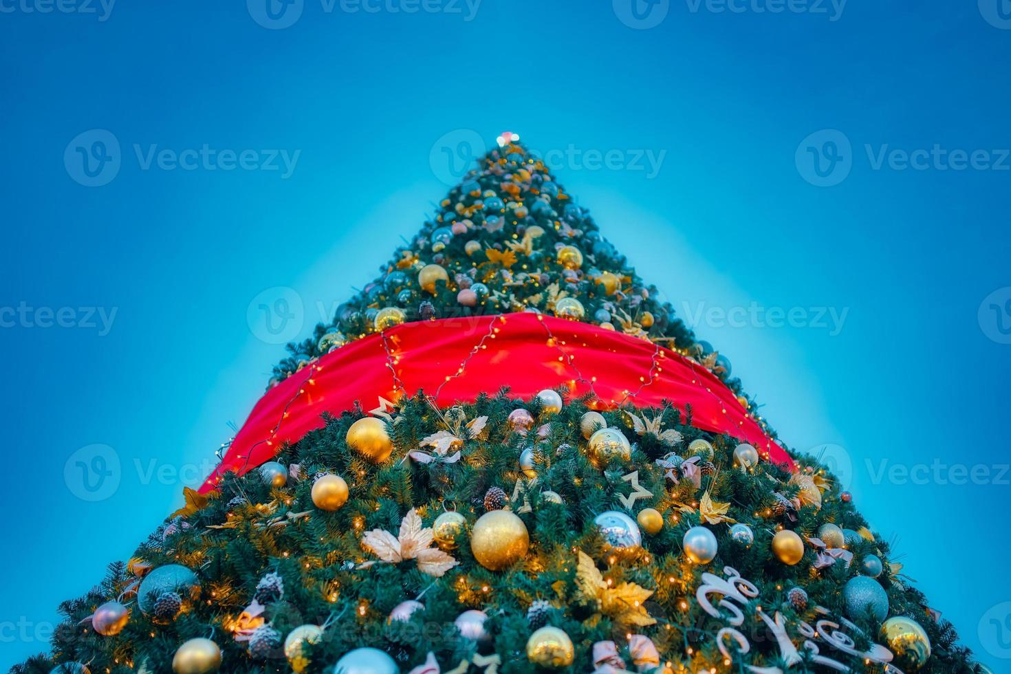 Christmas tree with decorations. photo