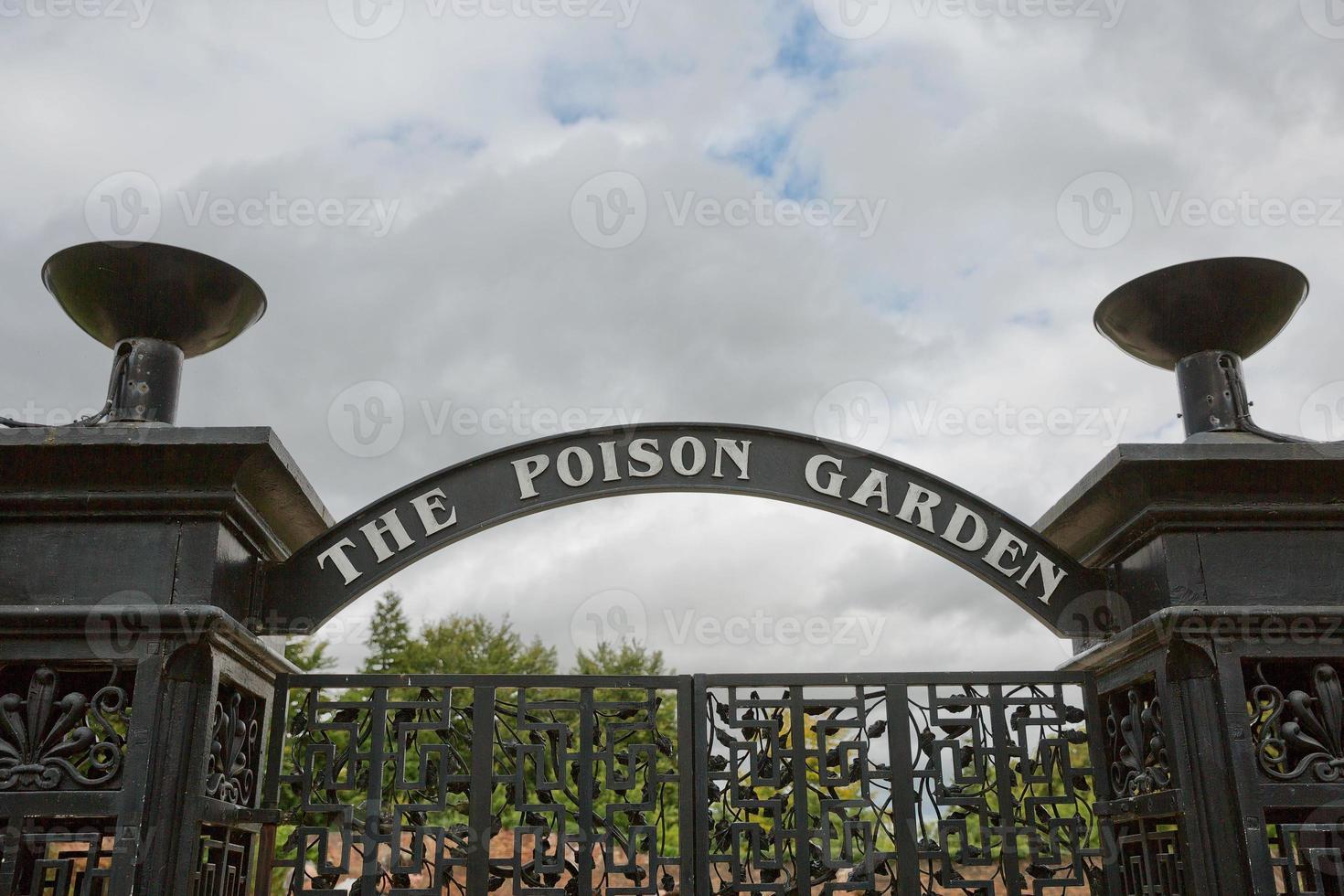 Alnwick Garden entrance into the poison garden at Alnwick Castle, UK photo