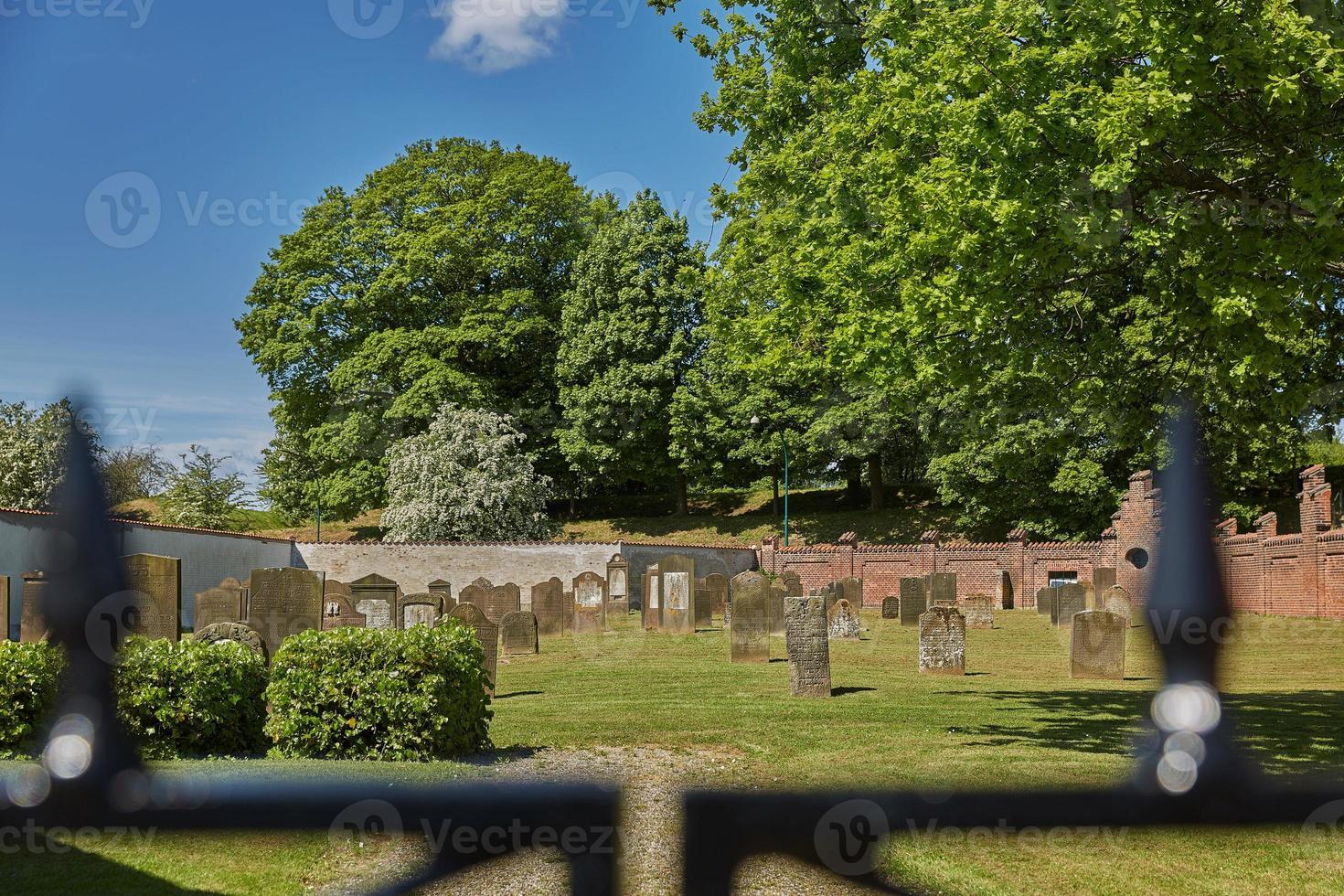 cementerio en la ciudad de fredericia en dinamarca. foto