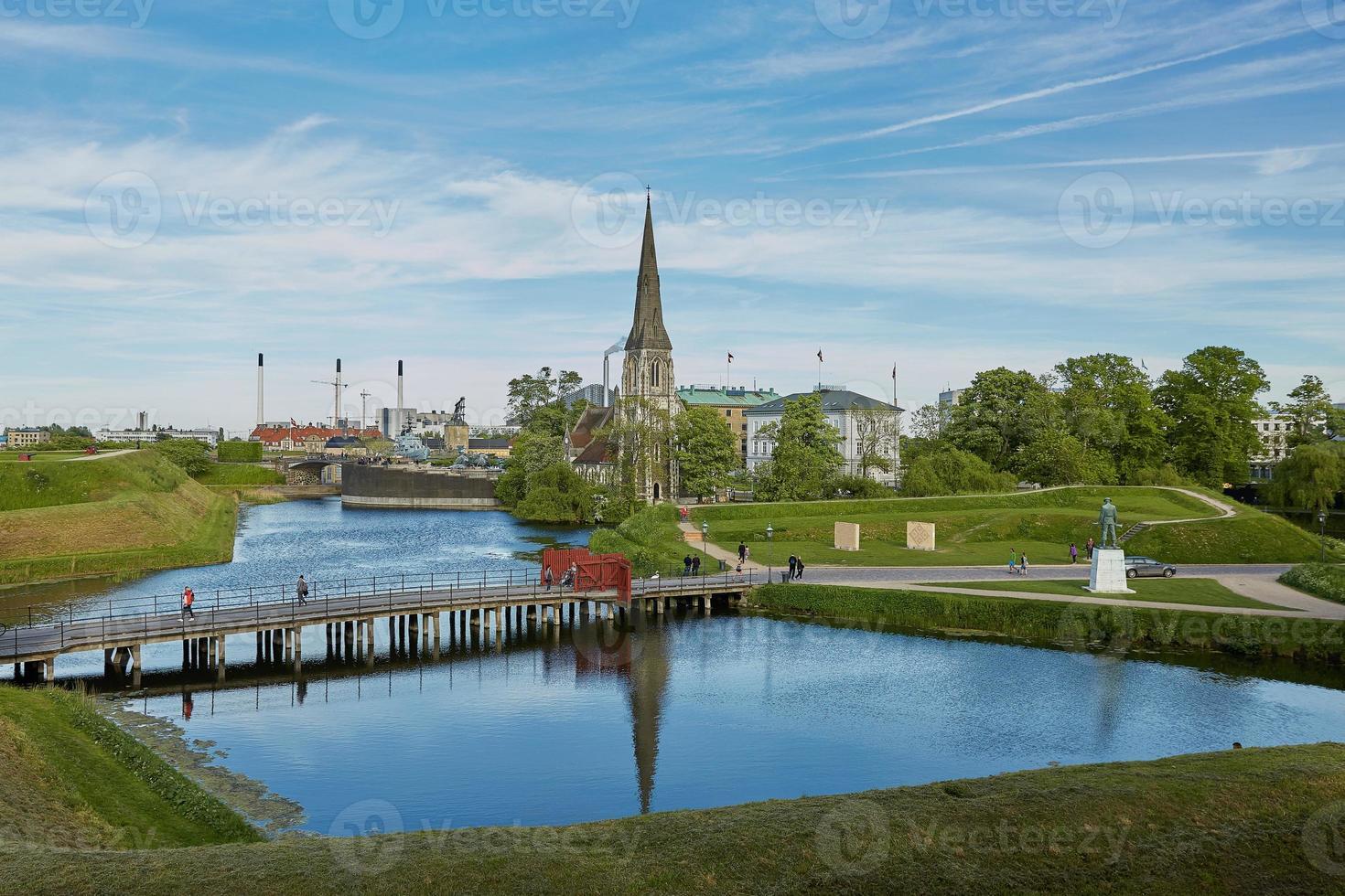 Iglesia de St Albans en Copenhague, Dinamarca foto