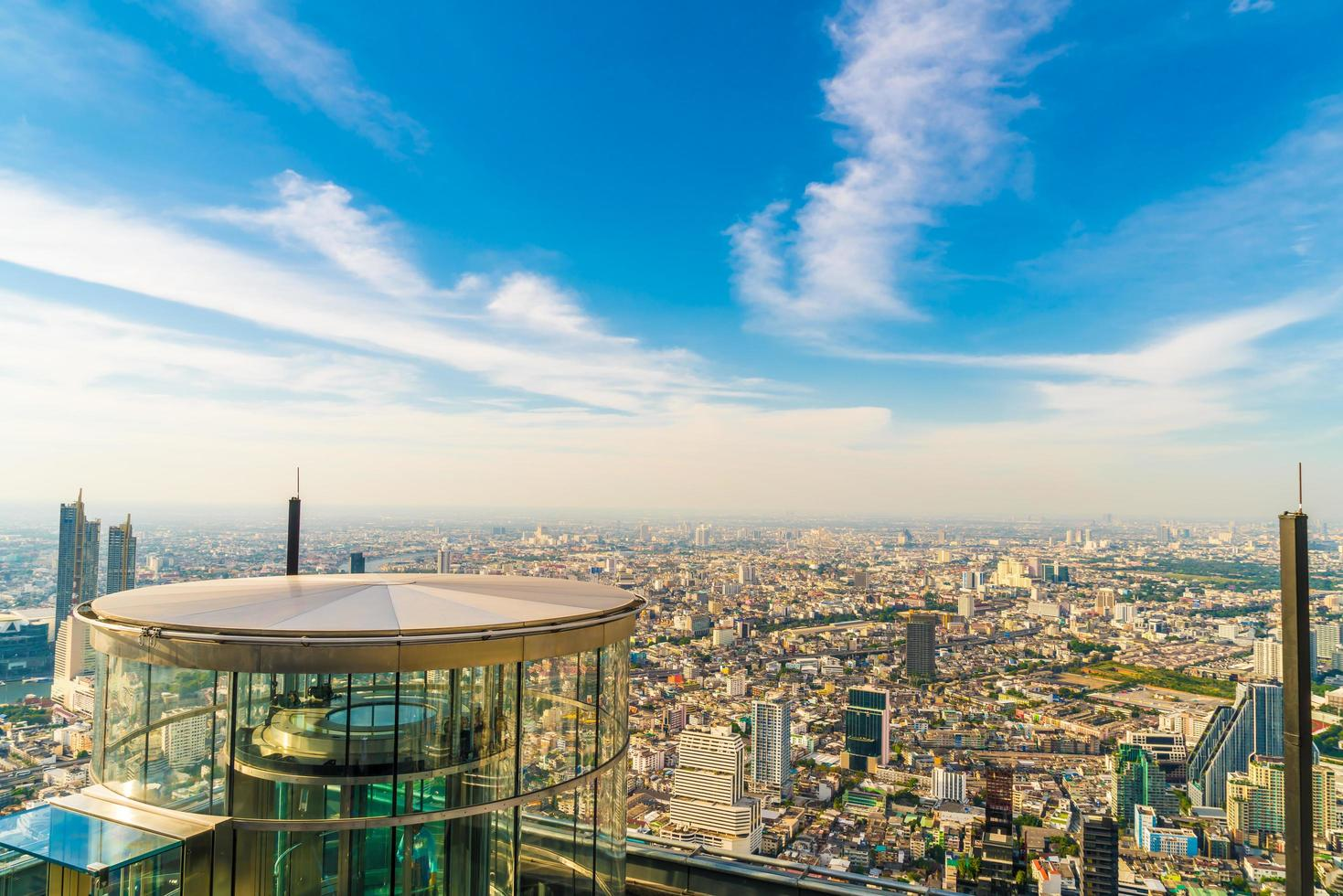 Beautiful cityscape with architecture and building in Bangkok Thailand photo