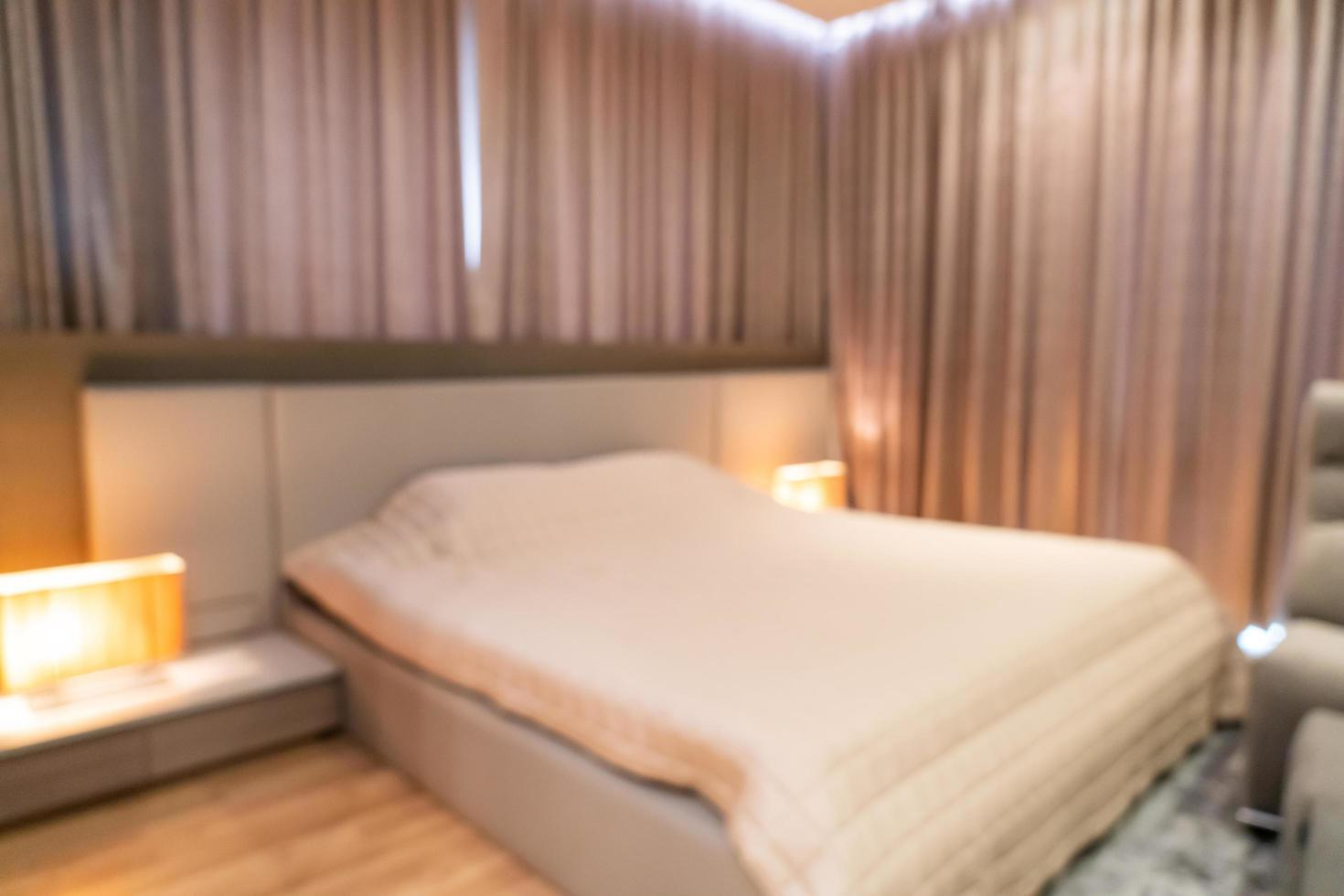 Abstract blur bedroom interior for background photo