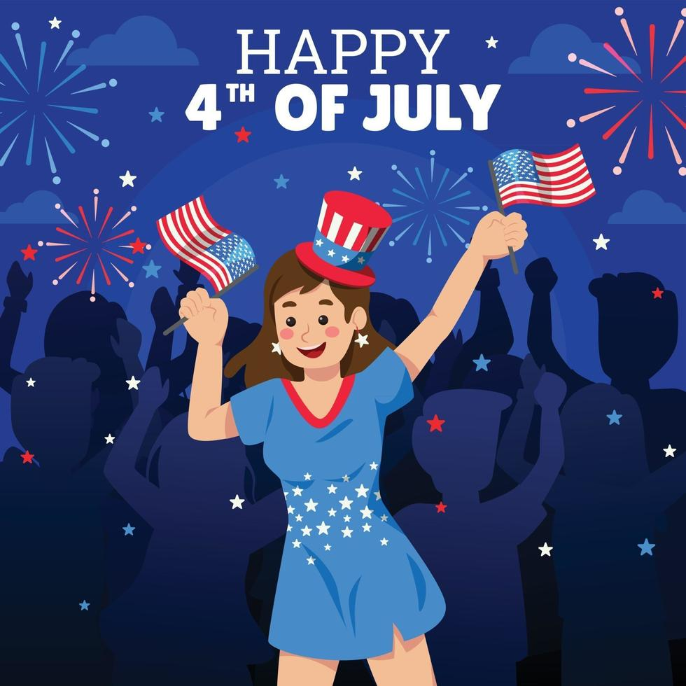 Celebration of the Fourth of July vector