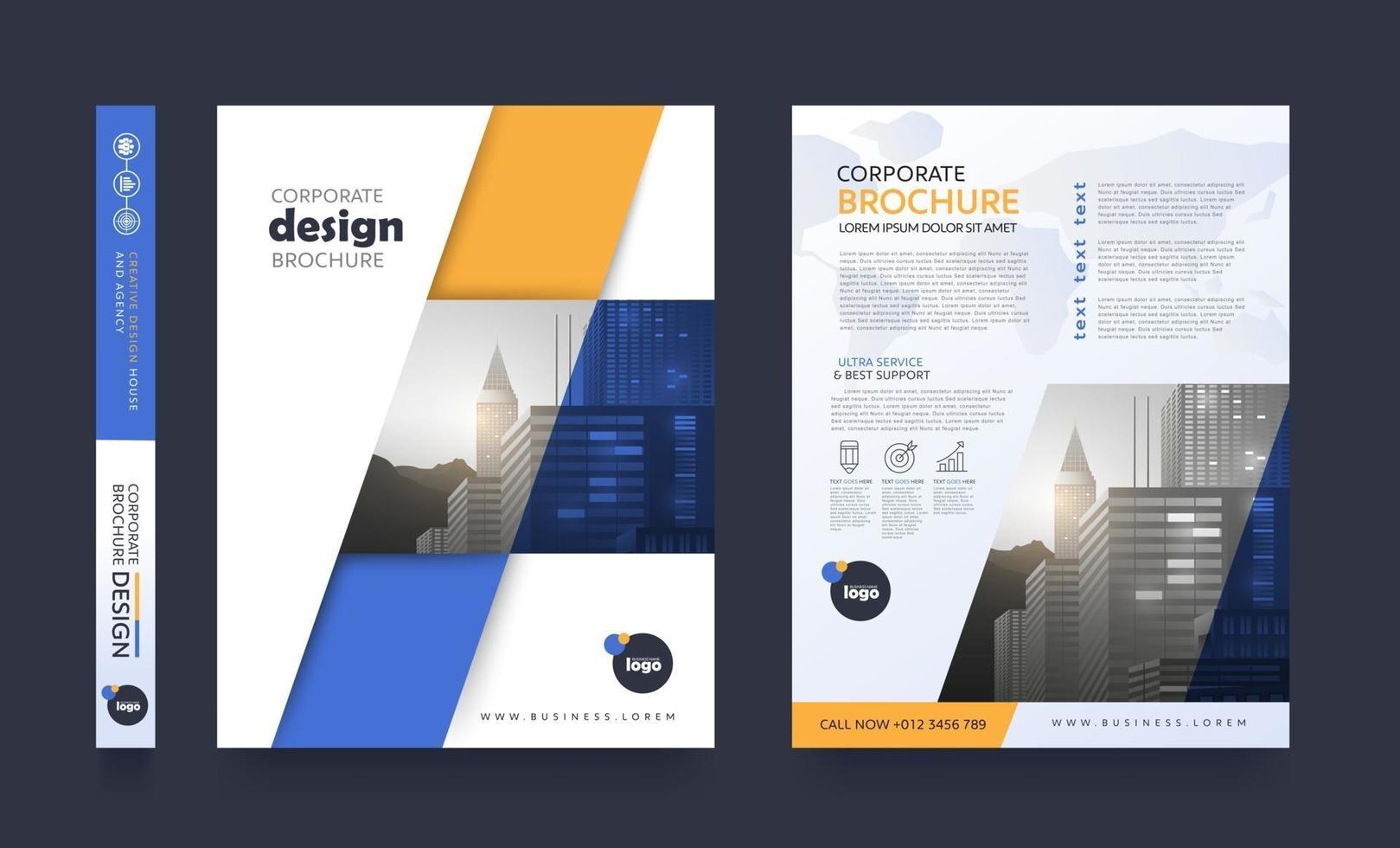 poster flyer pamphlet brochure cover design layout space for photo background vector