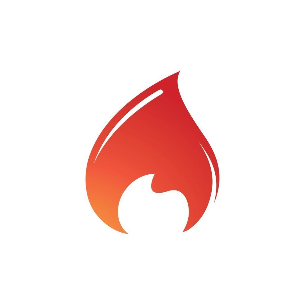 Flame logo Vector template. fire logo design graphic