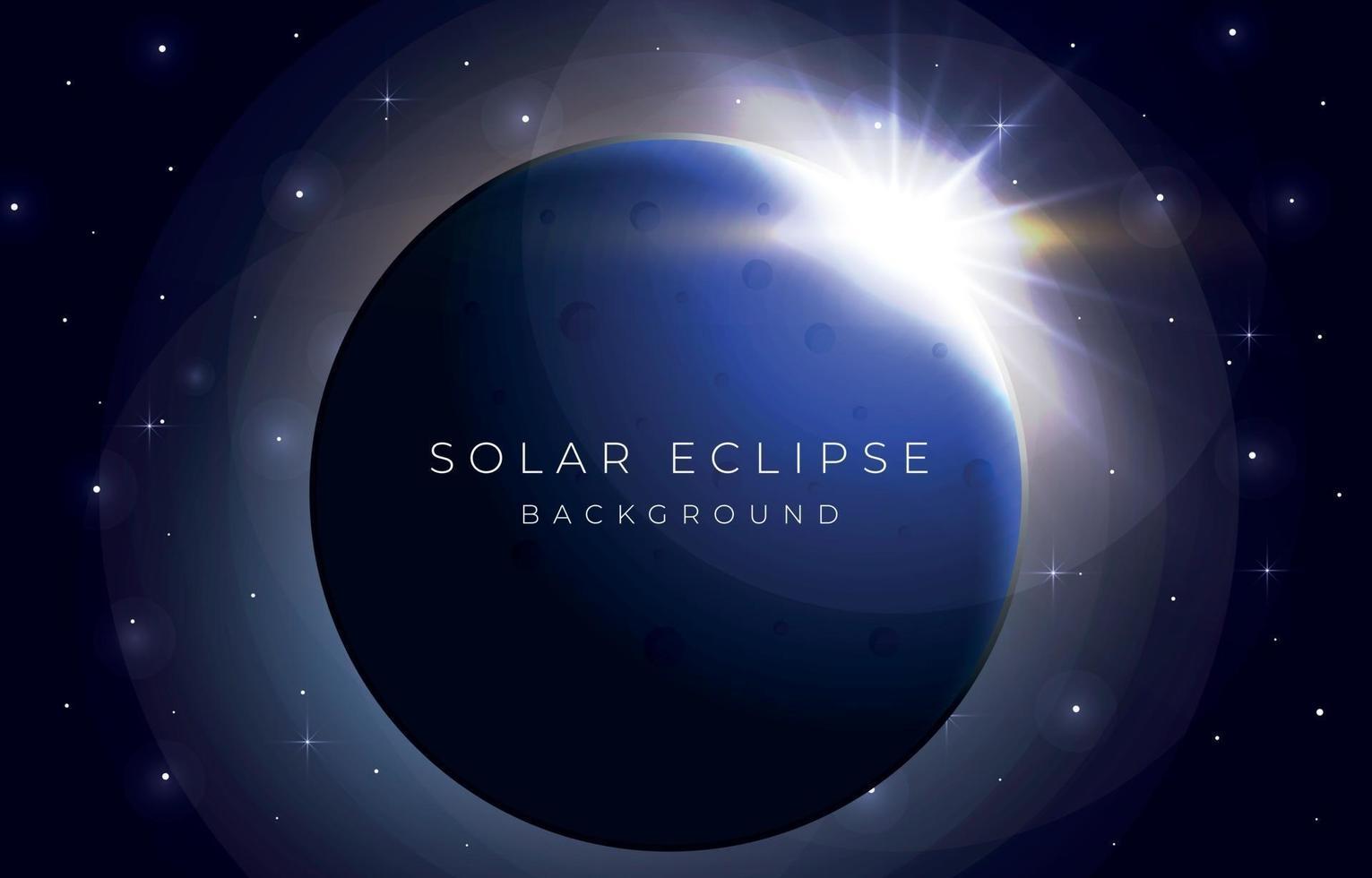 Solar Eclipse Background vector