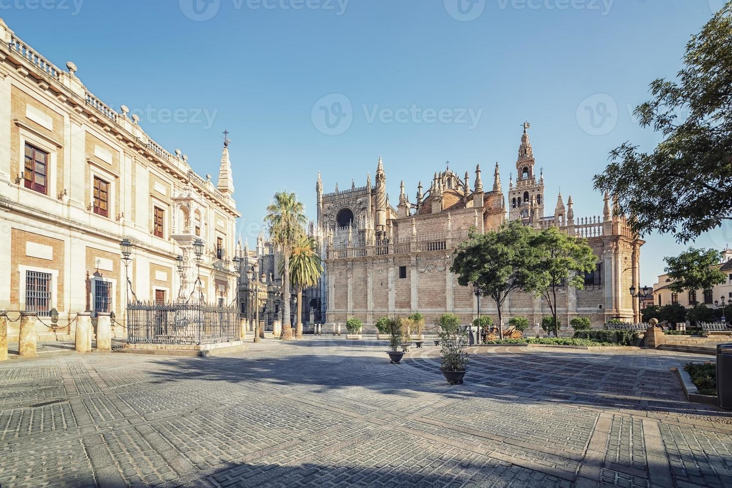 Seville city in the daytime, Spain photo