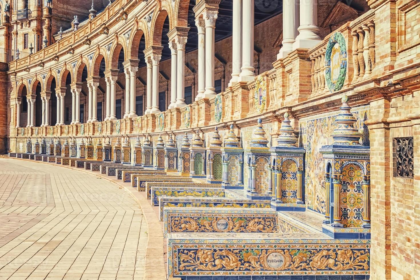 Plaza de Espana in Seville, Andalusia, Spain photo