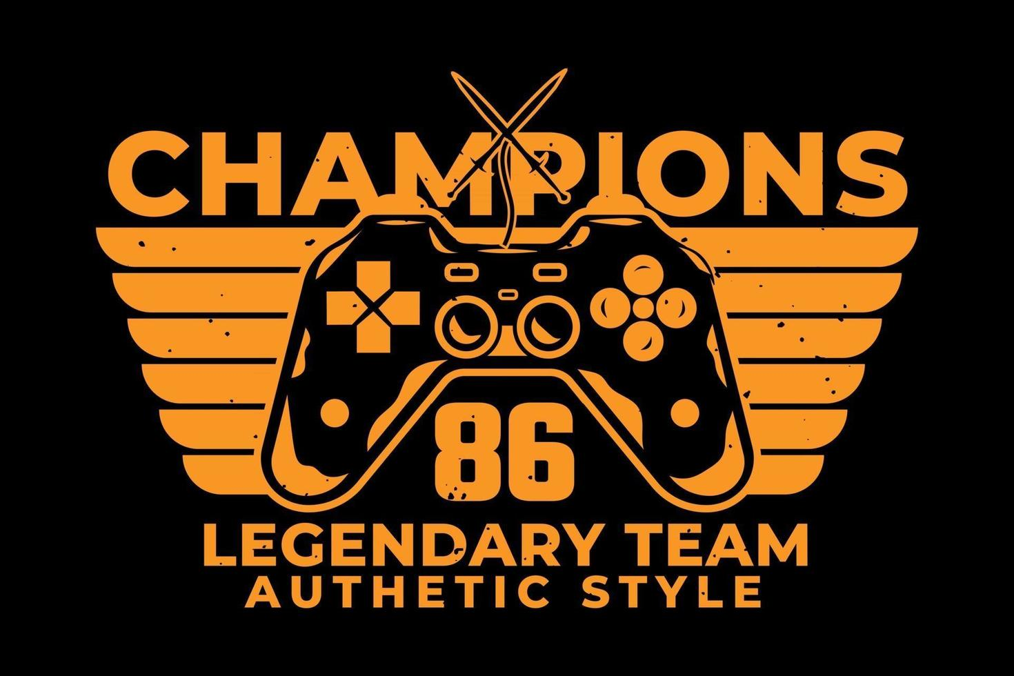 T-shirt typography champions legendary team authentic style vector