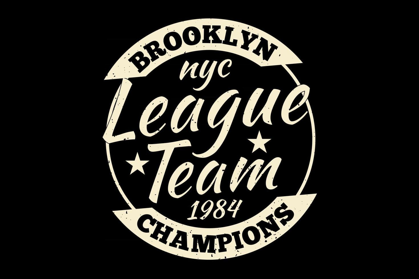 T-shirt typography brooklyn league champions vintage style vector