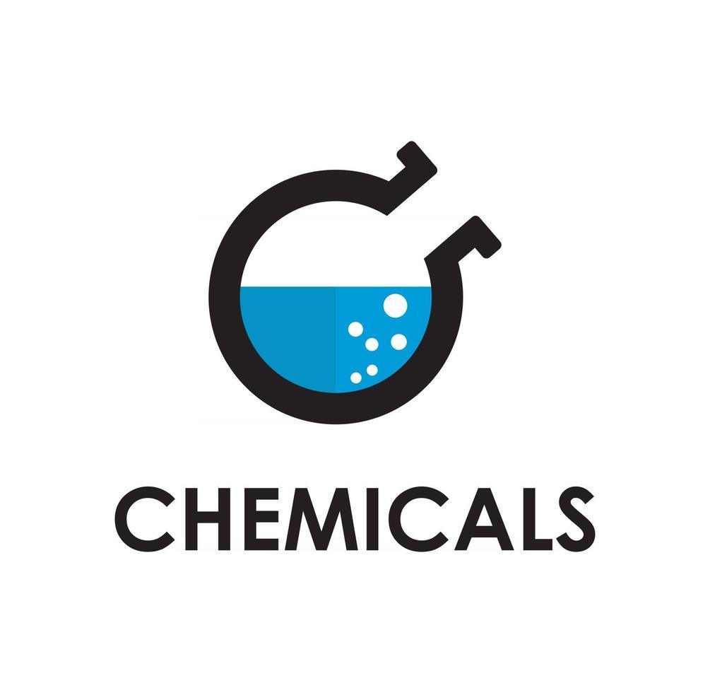 Chemical logo design illustration vector eps format , suitable for your design needs, logo, illustration, animation, etc.