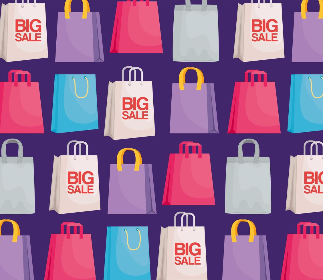 shopping bags pattern vector