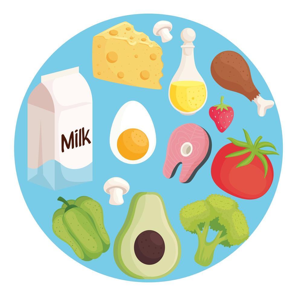 healthy food pattern vector