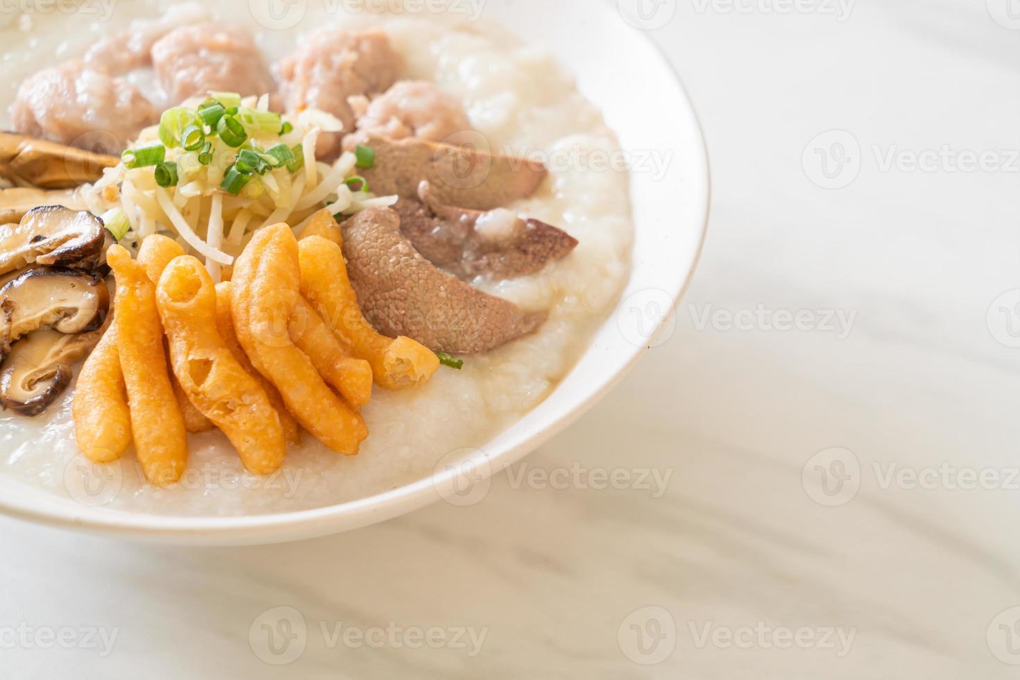 Pork Congee or Porridge with Pork photo
