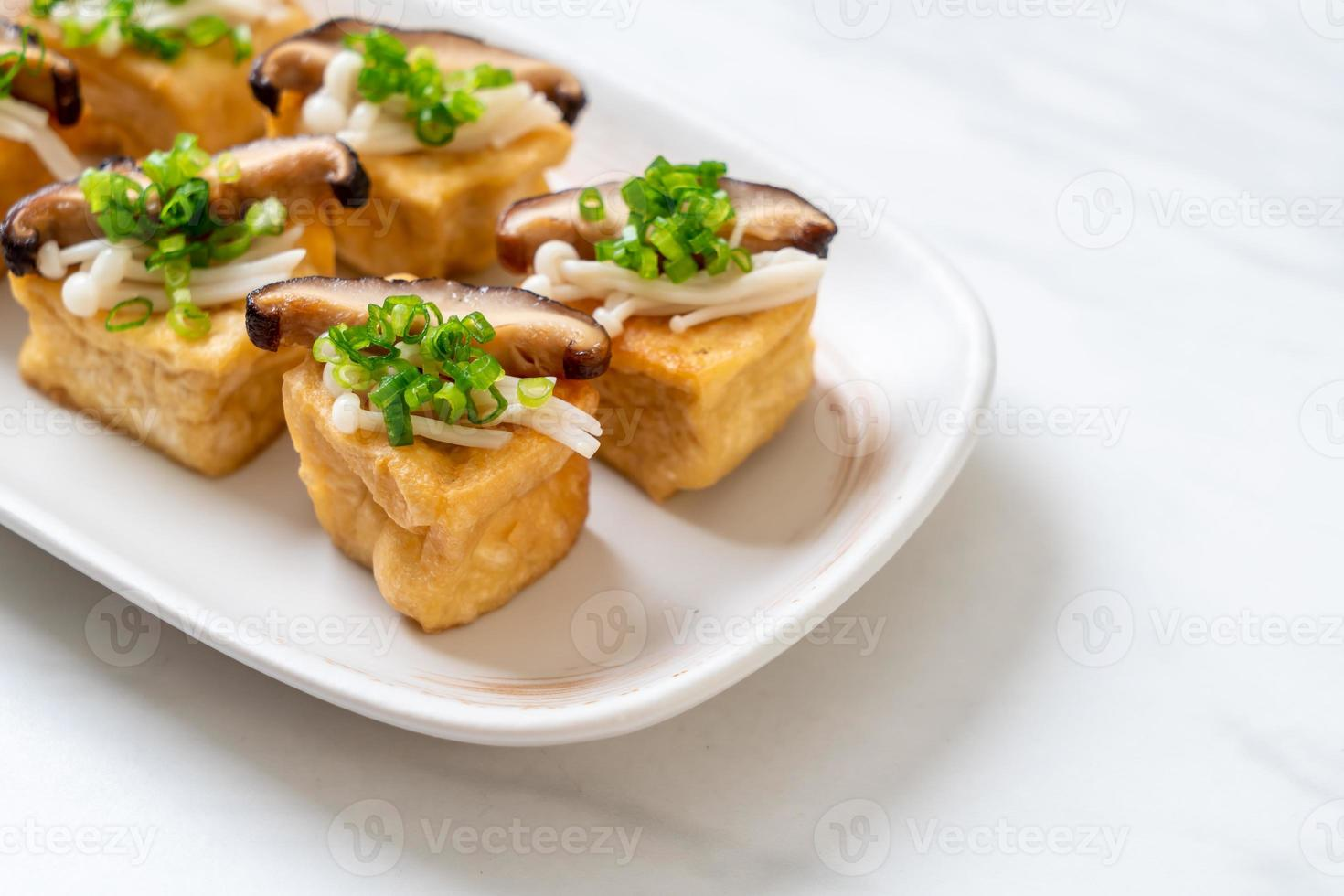 Grilled Tofu with Shitake Mushroom and Golden Needle Mushroom photo