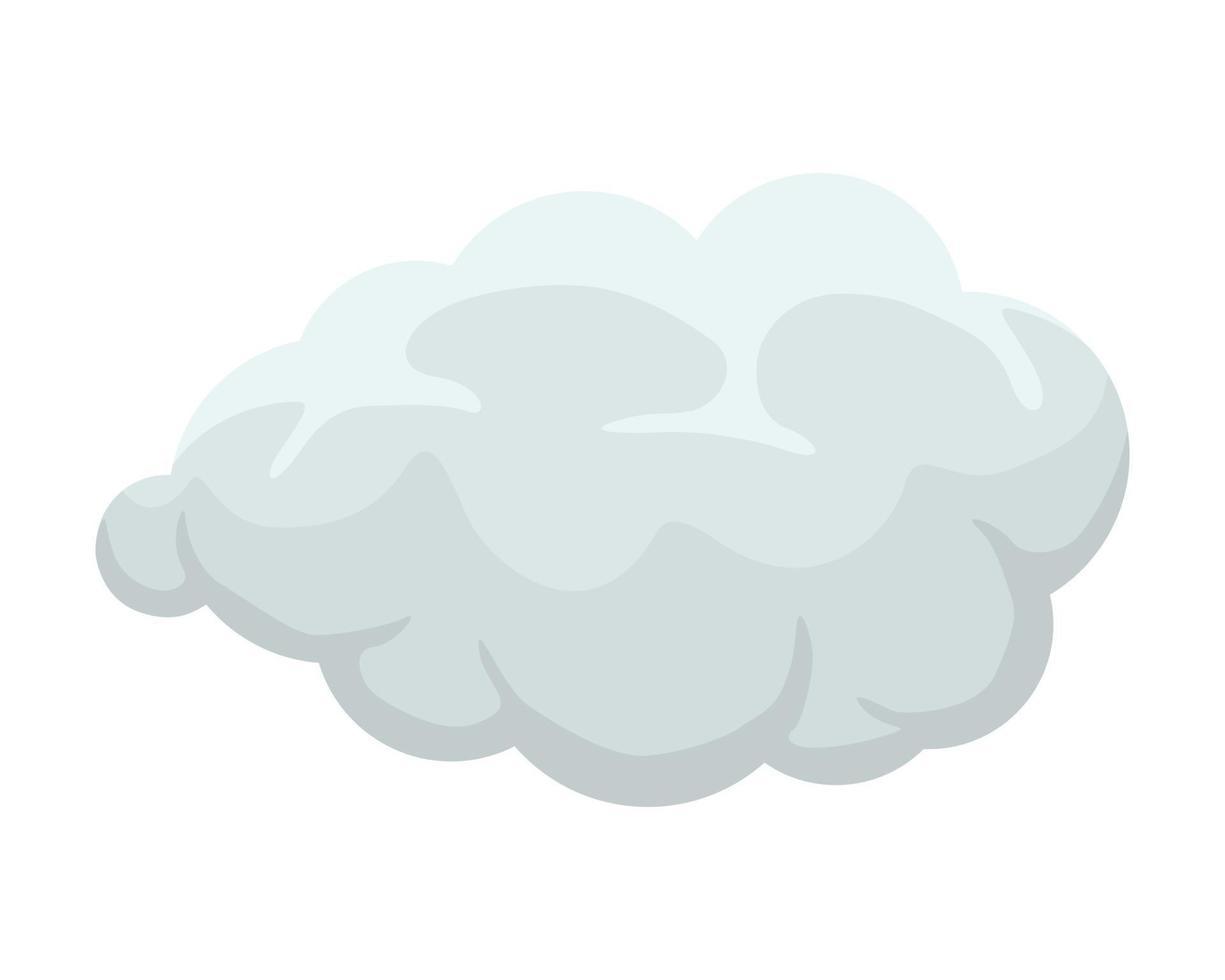 Cartoon smoke or fog. Cumulus explosion comic cloud. Flat smoky shape vector illustration
