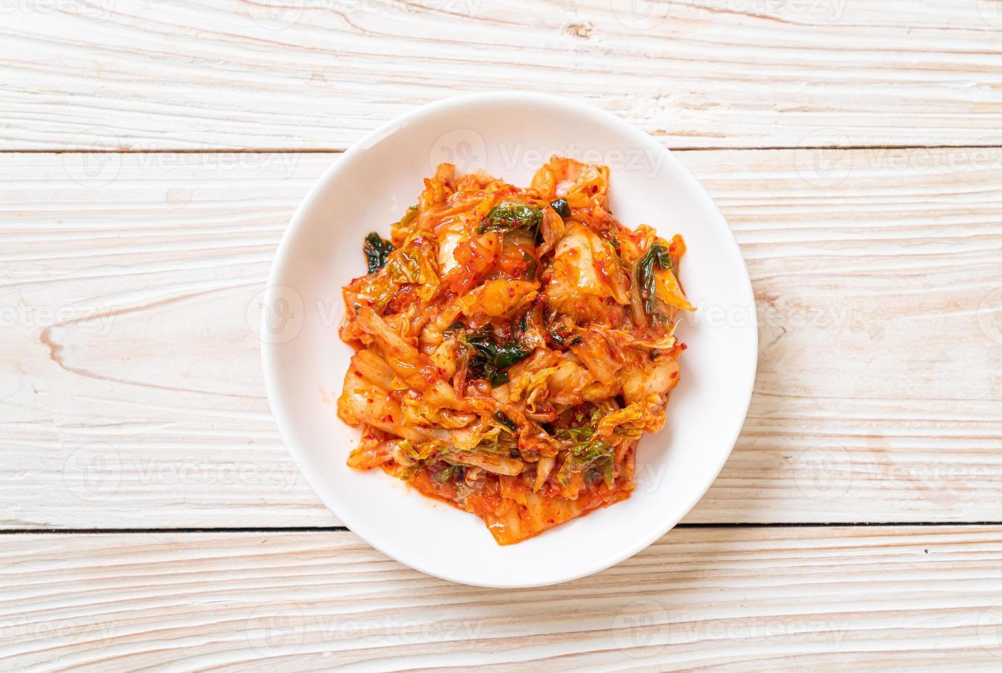 Kimchi cabbage on plate photo