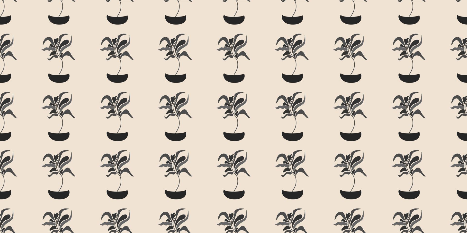 Cute floral, plant vector seamless pattern. Elegant template for fashion prints, fabric, textile, wallpaper, wall art, invitation, packaging. Ready to use