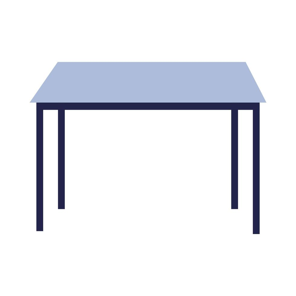 Isolated home table vector design
