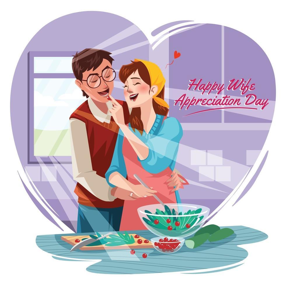 Happy Wife Appreciation Day Concept vector
