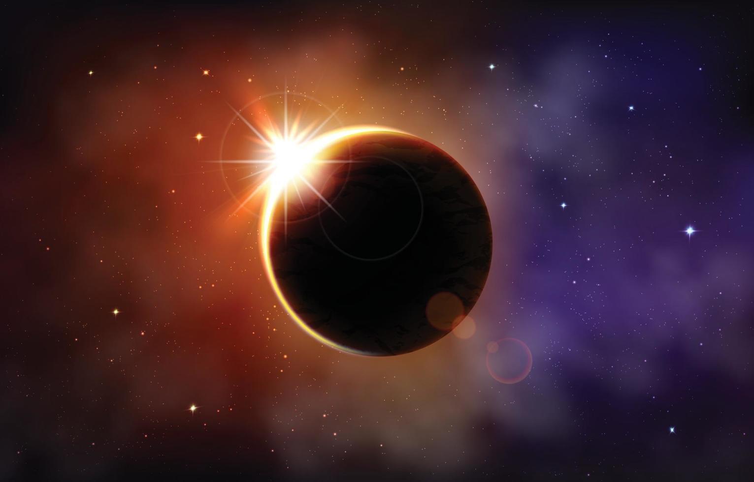 Solar Eclipse Concept vector