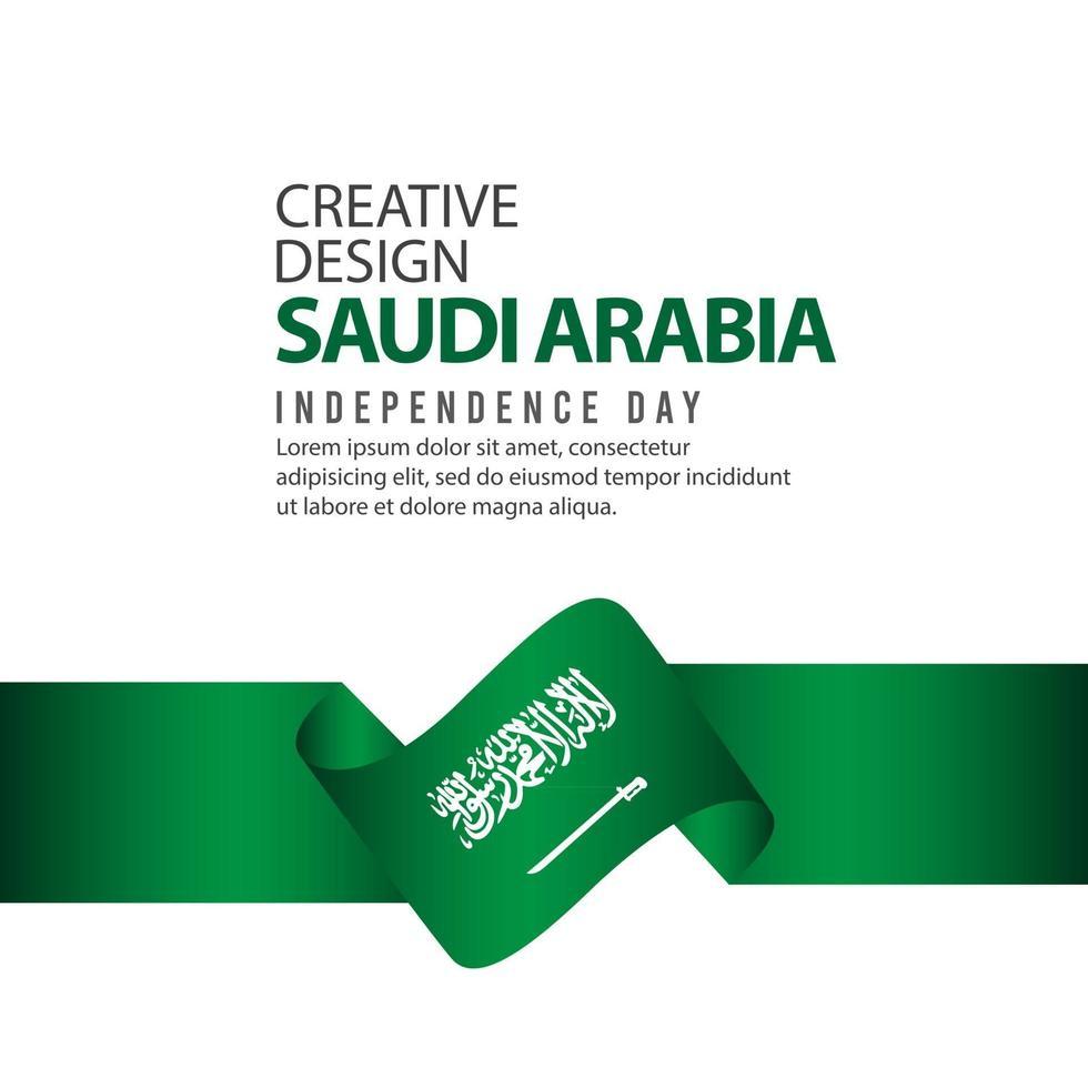 Saudi Arabia Independence Day Celebration Creative Design Illustration Vector Template