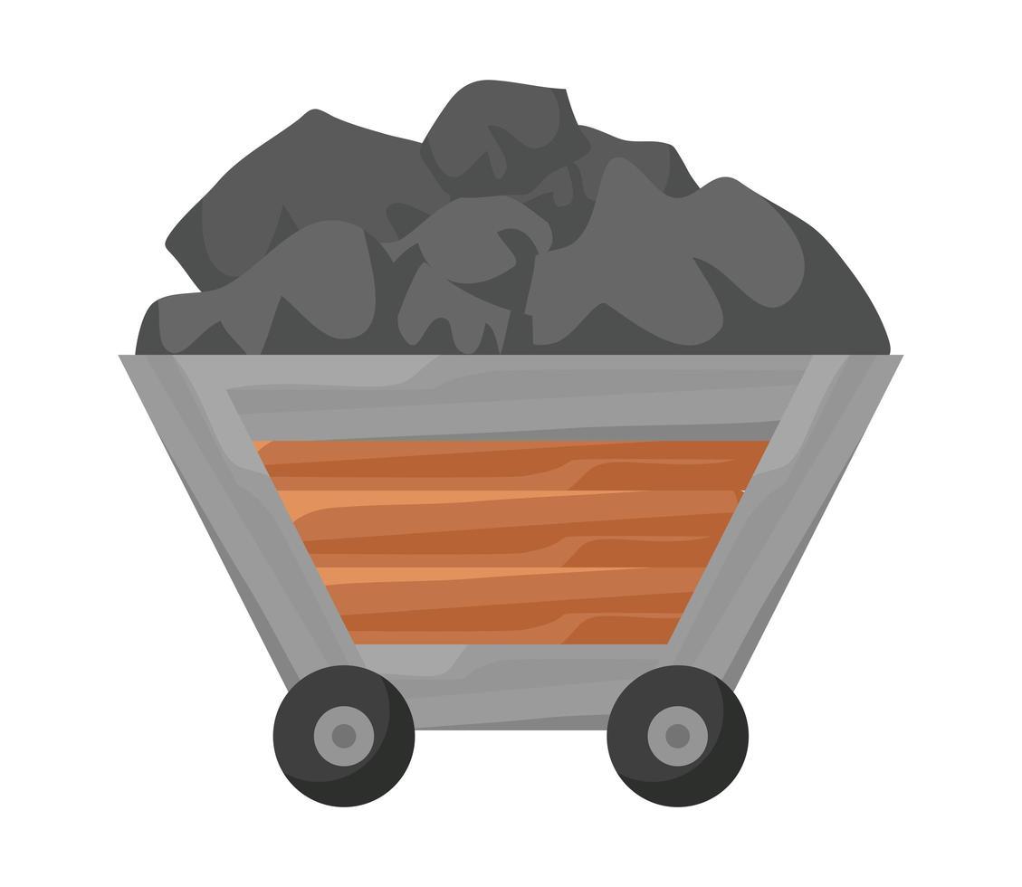 mining car design vector