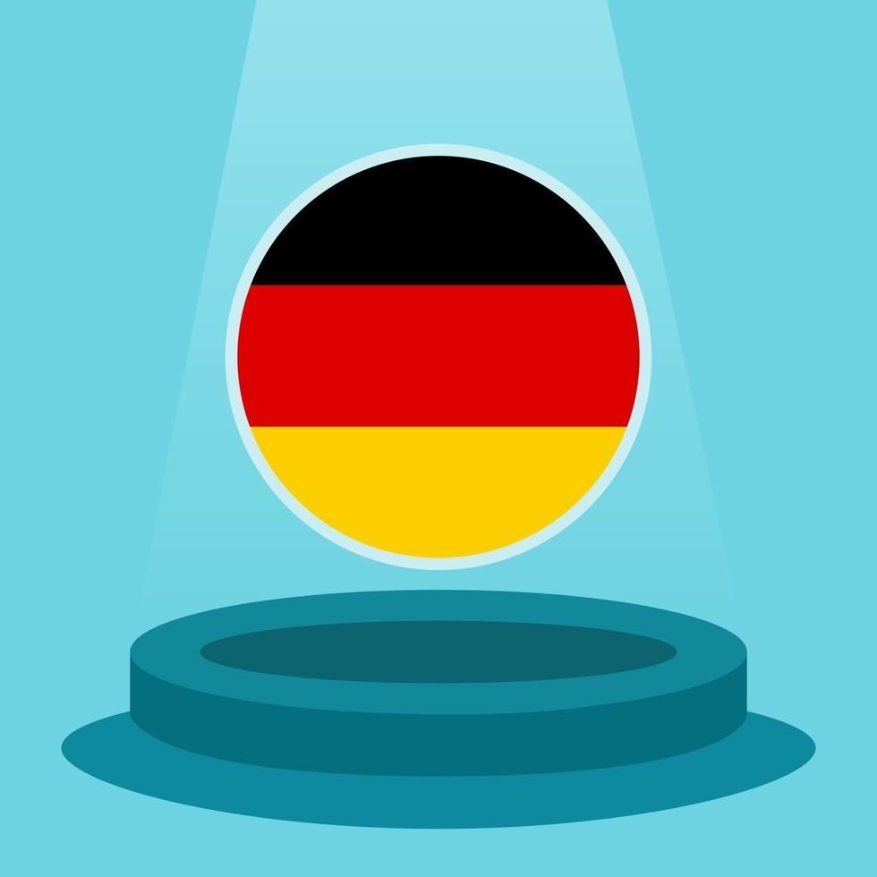 Flag of Germany on the podium. Simple minimalist flat design style. Ready to use for the football event etc. vector