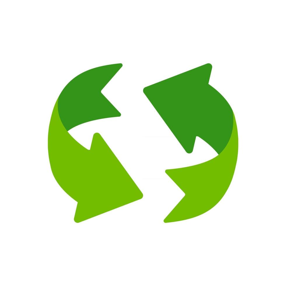 Recycling icon. An arrow that revolves endlessly Reuse concept Recycled. vector