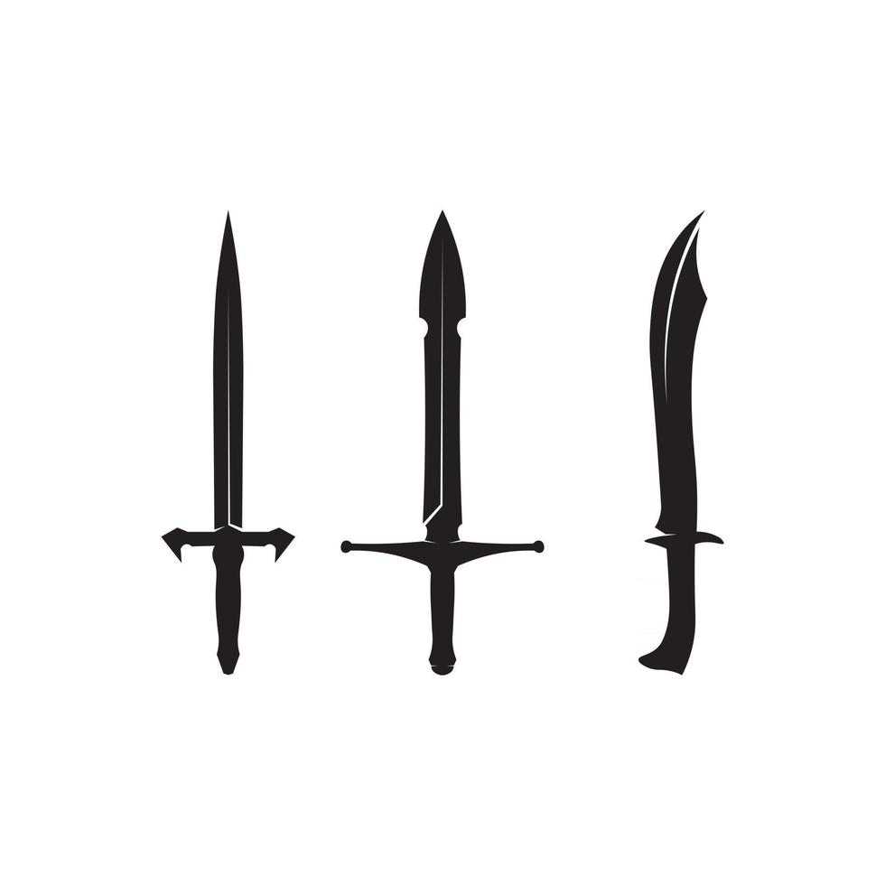 blade and Cross swords, saber and blade logo icon flat Simple vector symbol and bonus icon
