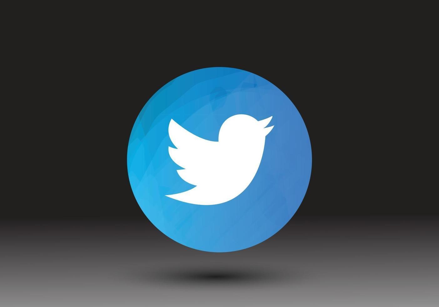 social media twitter icon vector