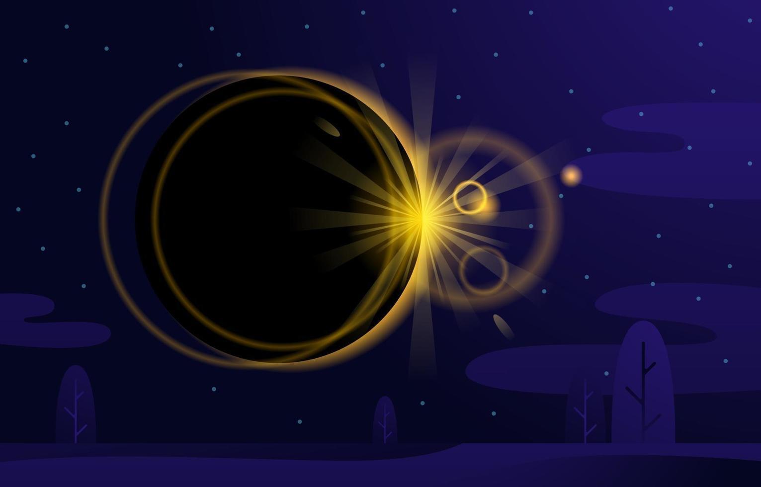 Solar Eclipse Background Concept vector