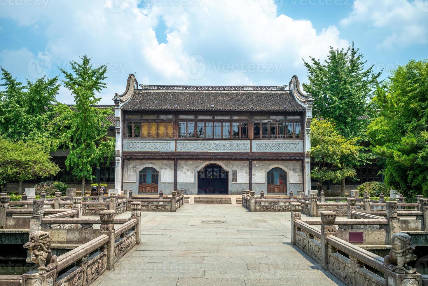 Fachada de la academia zhaoming en wuzhen, zhejiang, china foto