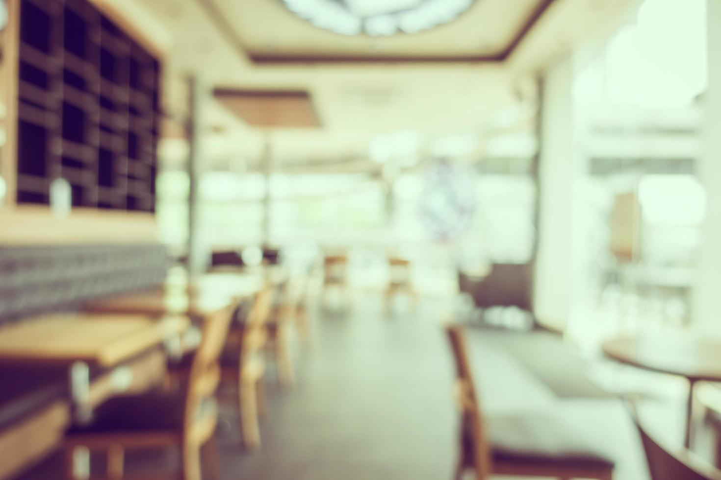Desenfoque abstracto y cafetería y restaurante bokeh foto
