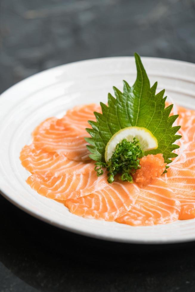 Raw fresh salmon sashimi photo