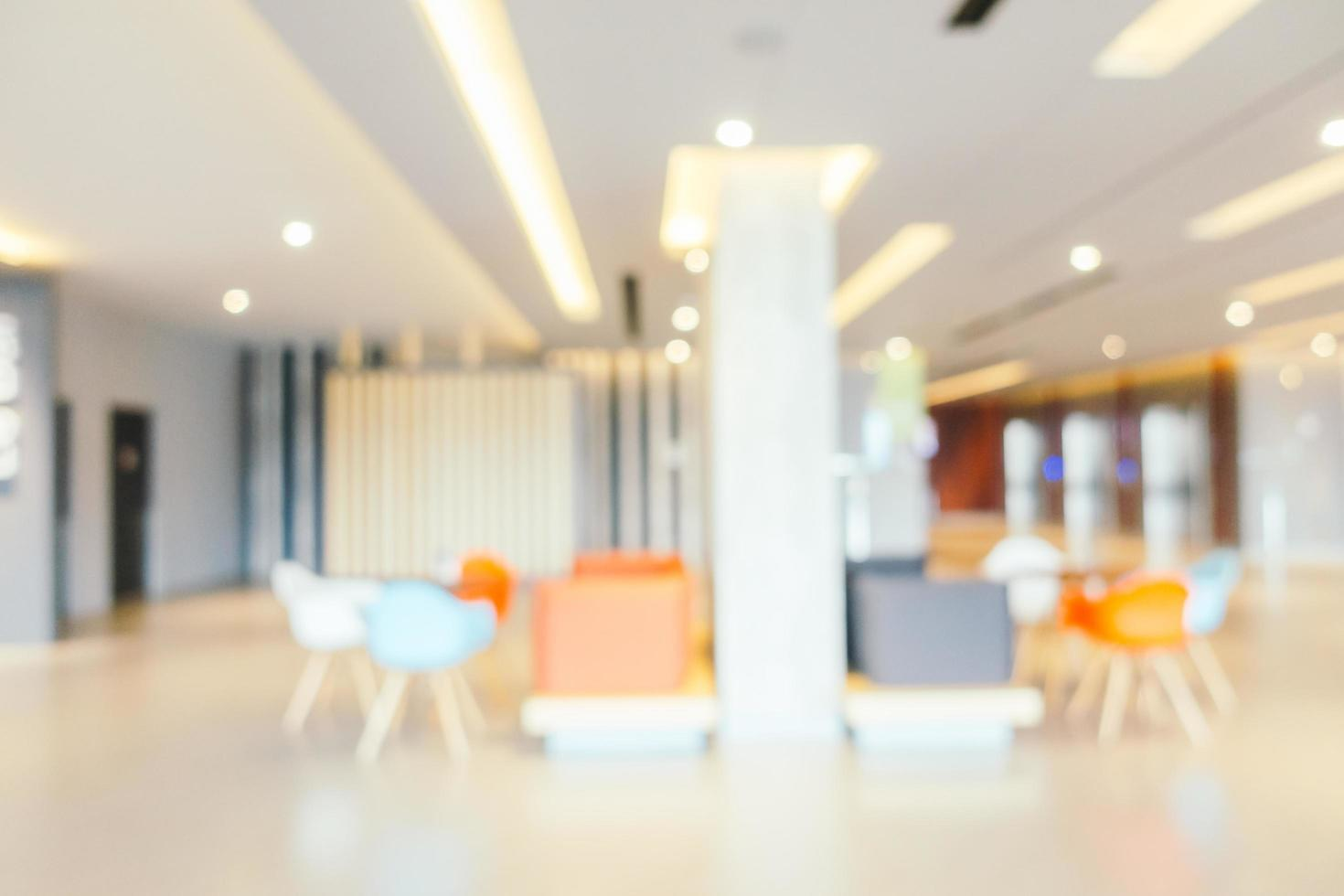 Abstract blur beautiful and luxury hotel lobby interior photo