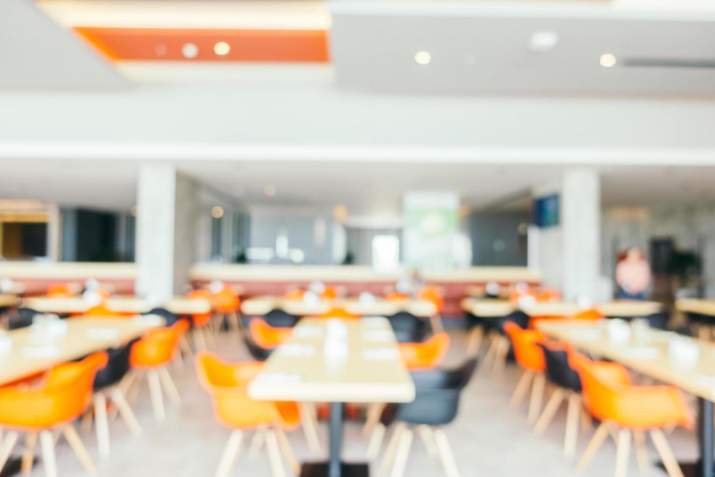 Abstract blur restaurant photo