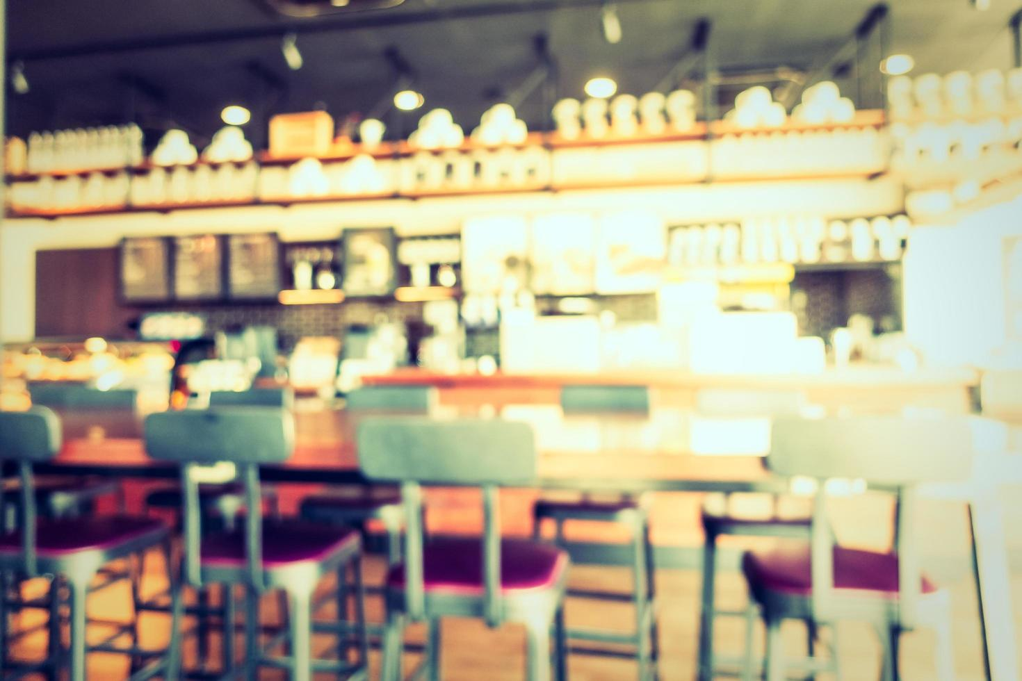 Abstract blur and defocused coffee shop cafe and restaurant photo