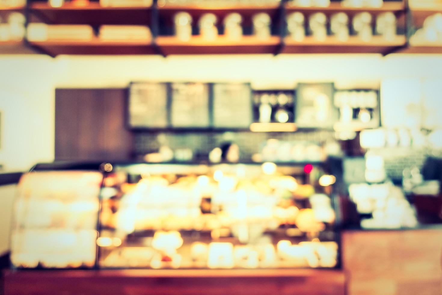 Desenfoque abstracto y cafetería y restaurante desenfocado foto