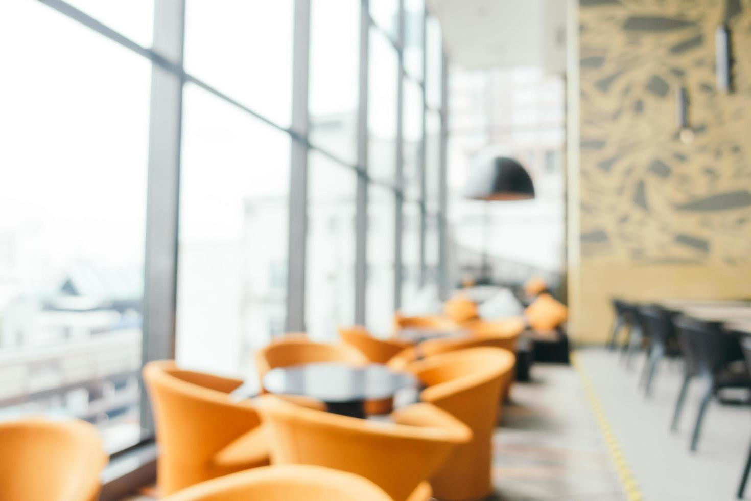 Abstract blur and defocused restaurant and coffee interior photo